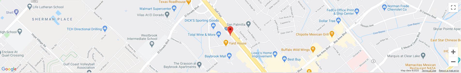 Baybrook, TX Google Maps Desktop