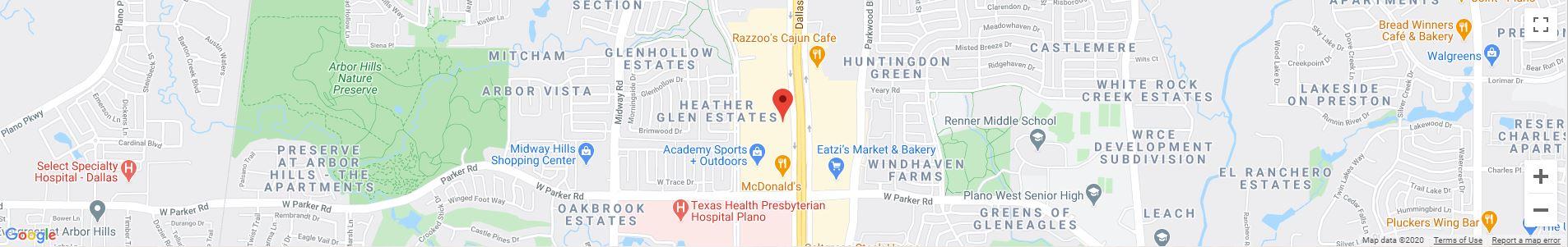 Plano, TX Google Maps Desktop