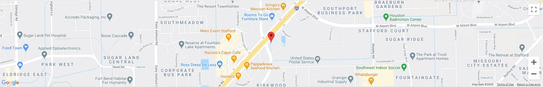 Stafford, TX Google Maps Desktop